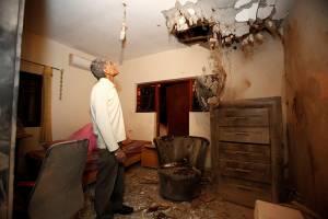 Hamas Rocket damage Sderot